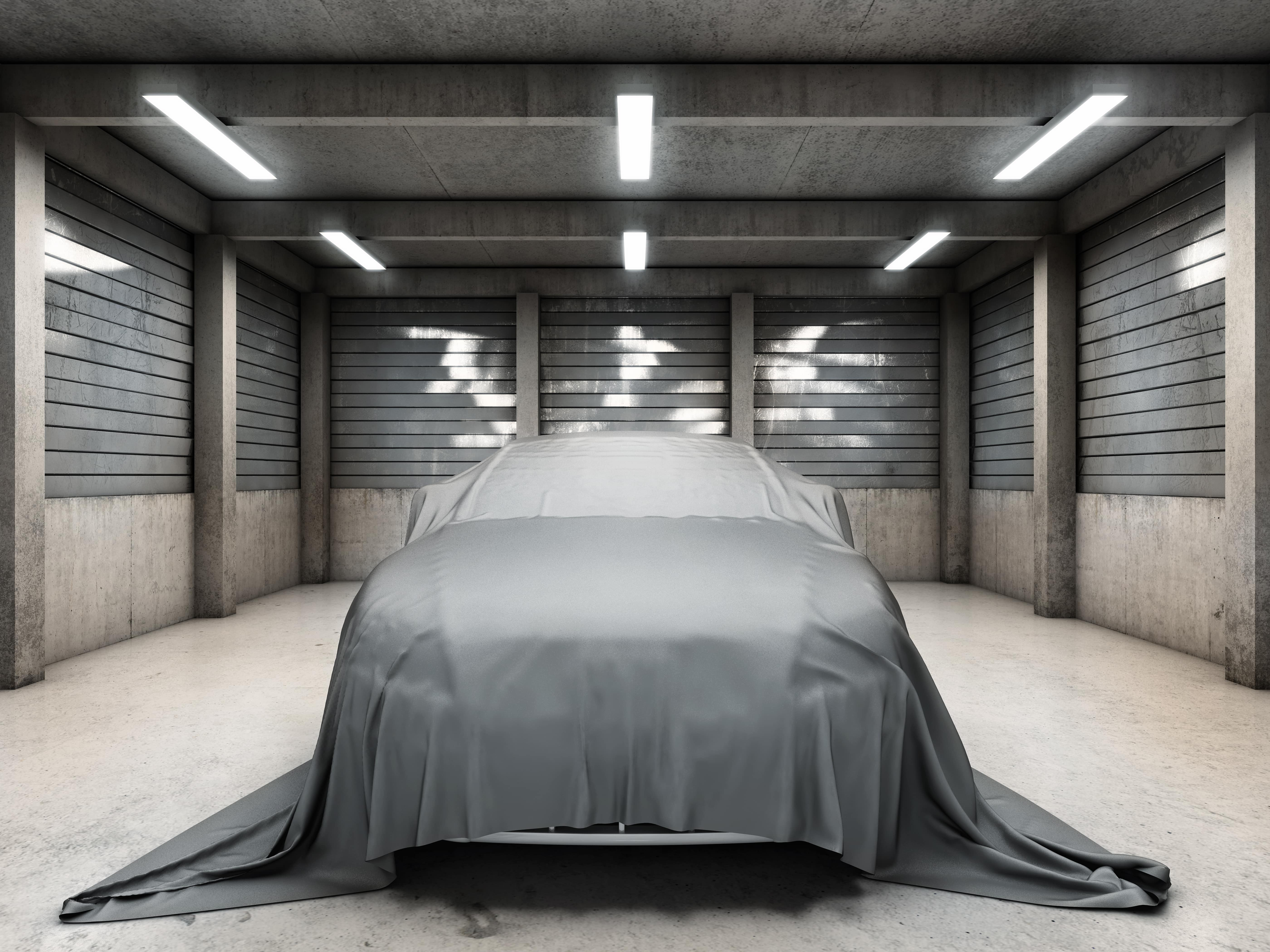 old-dirty-garage-car-covered-cloth