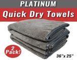 2-Pack Platinum Quick Dry Towel