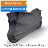 Indoor Black Satin Shield Motorcycle Cover