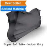 Indoor Black Satin Shield Scooter Cover