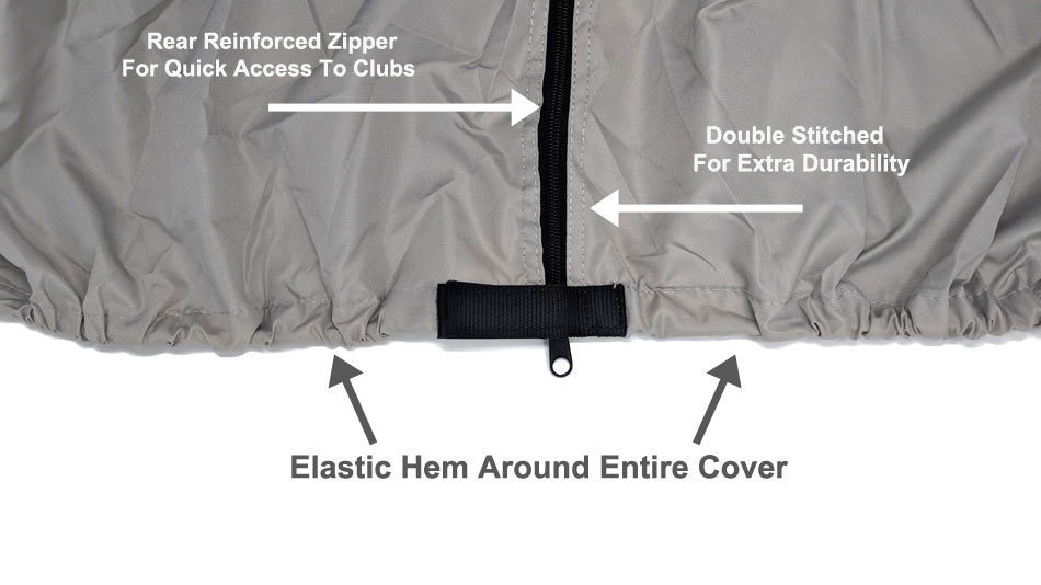 Golf Cart Cover Hem detail pics