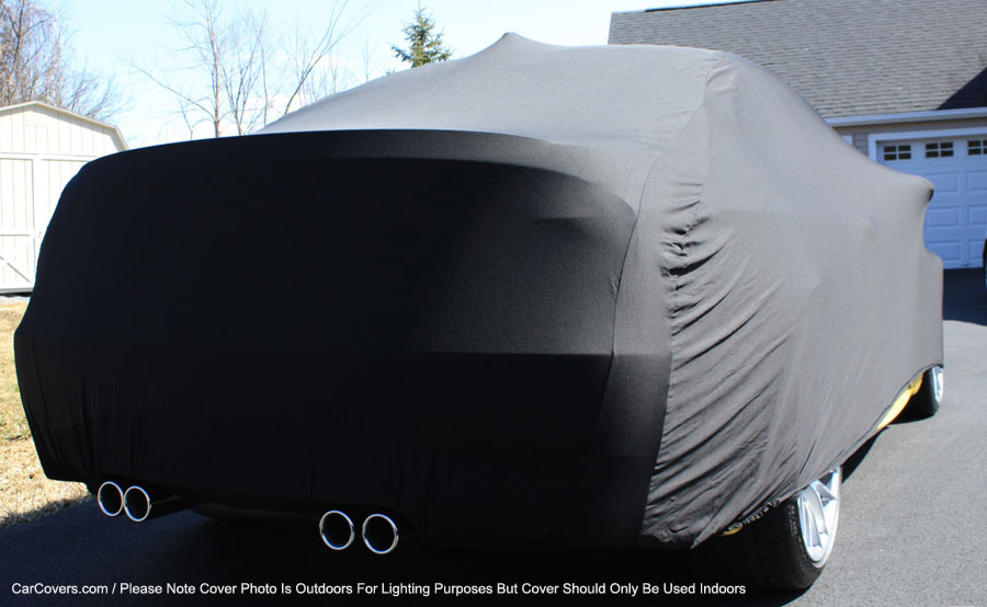 Satin Stretch Shield Black Indoor car Cover