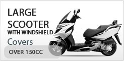 Scooter Cover For Large Scooter With Windshield Over 150CC