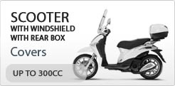 Scooter Cover For Scooter With Windshield And Rear Box Up To 300CC