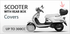 Scooter Cover For Scooter With Rear Box Up To 300CC
