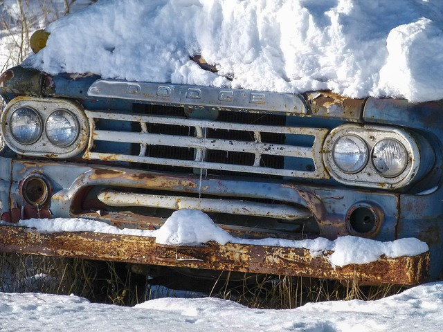 Snow Covered Rust